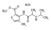 Articaine Impurity E (Isopropylarticaine HCl)